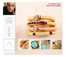Ali Targavi Jewelery Website