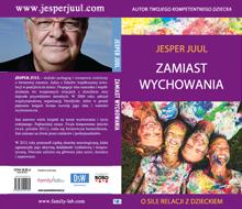 """Jesper Juul """"Zamiast Wychowania"""" Book Cover"""